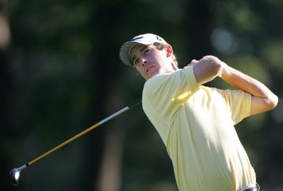 Andrew Buckle during a practice round before the 88th PGA Championship being held at Medinah Country Club in Medinah, Illinois on August 16, 2006.