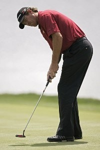 Greg Owen during the second round for THE PLAYERS Championship held at the TPC Stadium Course in Ponte Vedra Beach, Florida on March 24, 2006.Photo by Sam Greenwood/WireImage.com