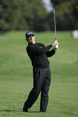 TIMONIUM, MD - OCTOBER 01:  Jay Haas plays a shot during the first round of the Constellation Energy Senior Players Championship at Baltimore Country Club/Five Farms (East Course) held on October 1, 2009 in Timonium, Maryland. (Photo by Michael Cohen/Getty Images)
