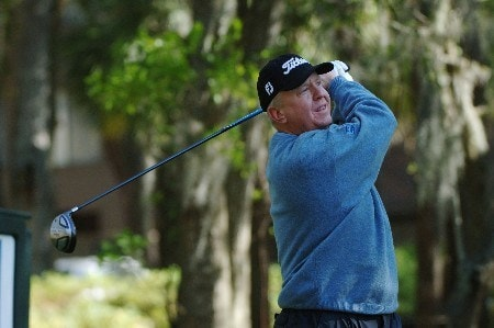 Billy Mayfair follows his tee shot during the third round of the MCI Heritage at Harbour Town Golf Links at Hilton Head Island, April 16, 2005.Photo by Al Messerschmidt/WireImage.com