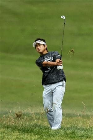 PEBBLE BEACH, CA - JUNE 18:  Hiroyuki Fujita of Japan hits a shot during the second round of the 110th U.S. Open at Pebble Beach Golf Links on June 18, 2010 in Pebble Beach, California.  (Photo by Jeff Gross/Getty Images)