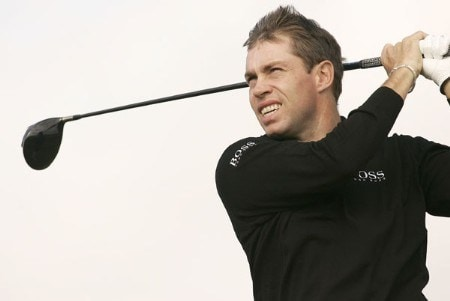 Brian Davis in action during the second round of the 2005 Dunhill Links Championship at St. Andrew Old Course on September 30, 2005.Photo by Pete Fontaine/WireImage.com