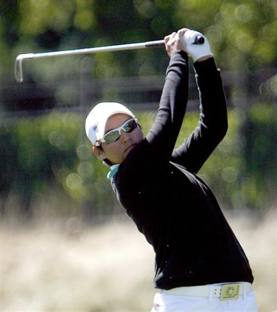 DANVILLE, CA - OCTOBER 12: Yani Tseng of Taiwan makes a tee shot on the 8th hole during the final round of the LPGA Longs Drugs Challenge at the Blackhawk Country Club October 12, 2008 in Danville, California. (Photo by Max Morse/Getty Images)
