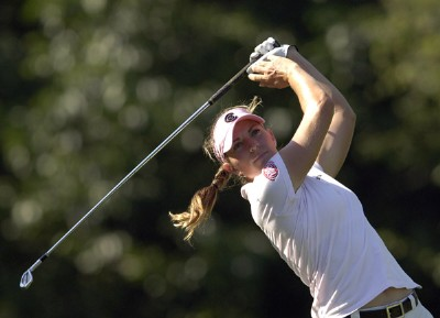 Brittany Lang during the third round of the Jamie Farr Owens Corning Classic at Highland Meadows Golf Club in Sylvania, Ohio, on Saturday, July 15, 2006.Photo by Steve Levin/WireImage.com