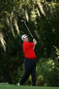 Bob Heintz hits his second shot on the first hole of the Magnolia Course during the second round of The Children's Miracle Network Classic held at The Disney Shades of Green Resort on November 2, 2007 in Orlando, Florida. PGA TOUR - 2007 Children's Miracle Network Classic presented by Wal-Mart - Second RoundPhoto by David Cannon/WireImage.com