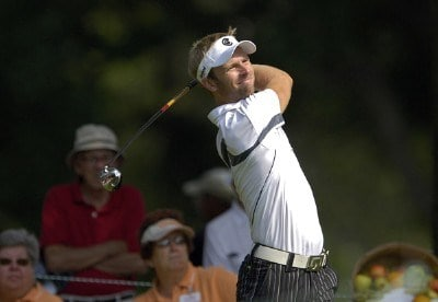 Richard S. Johnson during the first round of the U.S. Bank Championship the U.S. Bank Championship in Milwaukee at Brown Deer Park Golf Course in Milwaukee, Wisconsin, on July 27, 2006.Photo by Steve Levin/WireImage.com