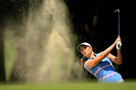 EDINA, MN - JUNE 26:  Anna Grzebien hits from a bunker on the 14th hole during the first round of the 2008 U.S. Women's Open at Interlachen Country Club on June 26, 2008 in Edina, Minnesota.  (Photo by Travis Lindquist/Getty Images)