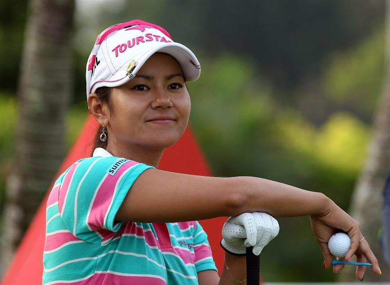 SINGAPORE - FEBRUARY 23:  Ai Miyazato of Japan during the pro-am event prior to the HSBC Women's Champions at Tanah Merah Country Club  on February 23, 2011 in Singapore, Singapore.  (Photo by Ross Kinnaird/Getty Images)