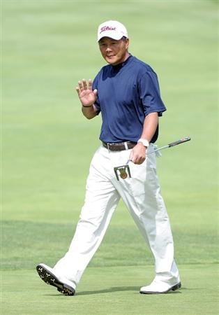 NEWPORT BEACH, CA - MARCH 07:  Chien Soon Lu of Taiwan reacts to his putt on the fifth hole during the third round of the Toshiba Classic at the Newport Beach Country Club on March 7, 2010 in Newport Beach, California.  (Photo by Harry How/Getty Images)