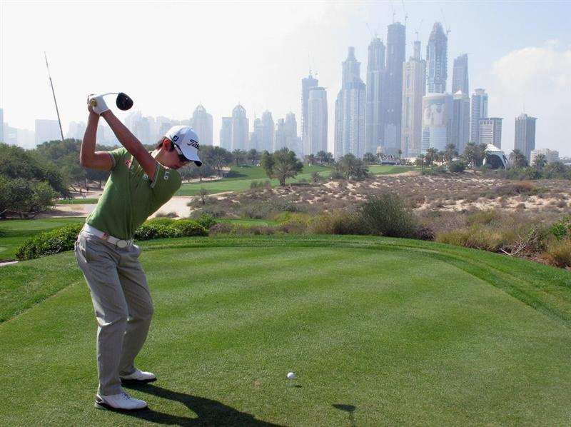 DUBAI, UNITED ARAB EMIRATES - FEBRUARY 10:  Seung-Yul Noh of Korea hits his tee-shot on the eighth hole during the first round of the Omega Dubai Desert Classic on the Majlis course at the Emirates Golf Club on February 10, 2011 in Dubai, United Arab Emirates.  (Photo by Andrew Redington/Getty Images)