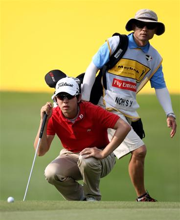 KUALA LUMPUR, MALAYSIA - MARCH 06:  Seung-yul Noh of Korea on the 18th hole during the third round of the Maybank Malaysia Open at the Kuala Lumpur Golf & Country on March 6, 2010 in Kuala Lumpur, Malaysia.  (Photo by Ross Kinnaird/Getty Images)