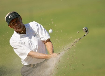 SAN ANTONIO - OCTOBER 20:  Wayne Levi hits from the bunker on the 12th hole during the second round of the AT&T Championship at Oak Hills Country Club October 20, 2007 in San Antonio, Texas.  (Photo by S.Greenwood/Getty Images)