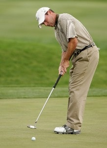 John Huston at the 9th green during the second round of the Frys.com Open benefiting Shriners Hospitals for Children at TPC Canyons on October 12, 2007 in Las Vegas, Nevada. PGA TOUR - 2007 Frys.com Open - Second RoundPhoto by Stan Badz/PGA TOUR/WireImage.com