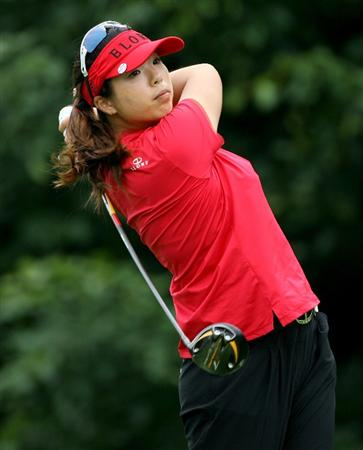 HAVRE DE GRACE, MD - JUNE 11:  Shanshan Feng of China hits her tee shot on the 9th hole during the first round of the McDonald's LPGA Championship at Bulle Rock Golf Course on June 11, 2009 in Havre de Grace, Maryland.  (Photo by Andy Lyons/Getty Images)