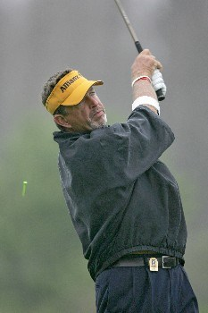 Dana Quigley competes in the rain delayed first round of the Champions Tour Outback Steakhouse Pro-Am at the TPC at Tampa Bay in Lutz, FL