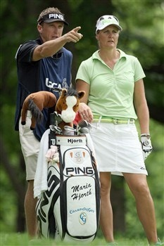 EDINA, MN - JUNE 26:  Maria Hjorth of Sweden waits to tee off at the 15th hole during the first round of the 2008 US Womens Open Championship held at Interlachen Country Club on June 26, 2008 in Edina, Minnesota.  (Photo by David Cannon/Getty Images)