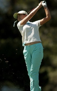 Shi Hyun Ahn in action during the final round of the 2005 LPGA Takefuji Classic at the Las Vegas Country Club in Las Vegas, Nevada, April 16, 2005.Photo by Steve Grayson/WireImage.com