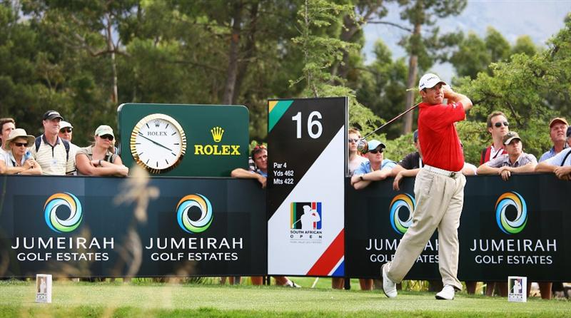 PAARL, SOUTH AFRICA - DECEMBER 20:  Lee Westwood of England tees off on the 16th hole during the third round of the South African Open Championship at Pearl Valley Golf & Country Club on December 20, 2008 in Paarl, South Africa.  (Photo by Warren Little/Getty Images)
