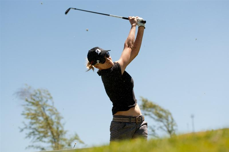 MORELIA, MEXICO - MAY 1: Sarah Jane Smith of Australia follows through on a tee shot during the third round of the Tres Marias Championship at the Tres Marias Country Club on May 1, 2010 in Morelia, Mexico. (Photo by Darren Carroll/Getty Images)