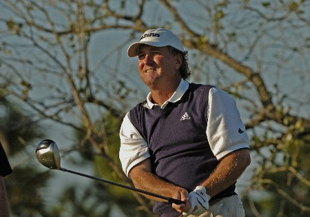 Danny Briggs hits from the 18th tee  during first round competition at the 2005 Honda Classic March 10, 2005 in Palm Beach Gardens, Florida.