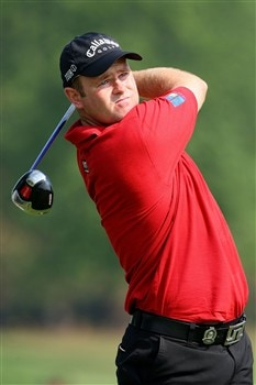 BLOOMFIELD HILLS, MI - AUGUST 05:  Alastair Forsyth of Scotland plays a tee shot during a practice round prior to the 90th PGA Championship at Oakland Hills Country Club on August 5, 2008 in Bloomfield Township, Michigan.  (Photo by Stuart Franklin/Getty Images)