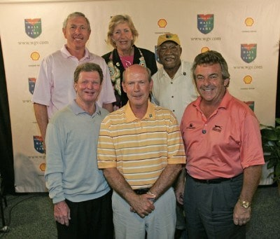 Larry Nelson is announced as a 2006 member of the World Golf Hall Of Fame during the Liberty Mutual Legends of Golf at Westin Savannah Harbor Golf Resort & Spa in Savannah, Georgia, on April 19, 2006.Photo by: Chris Condon/PGA TOUR