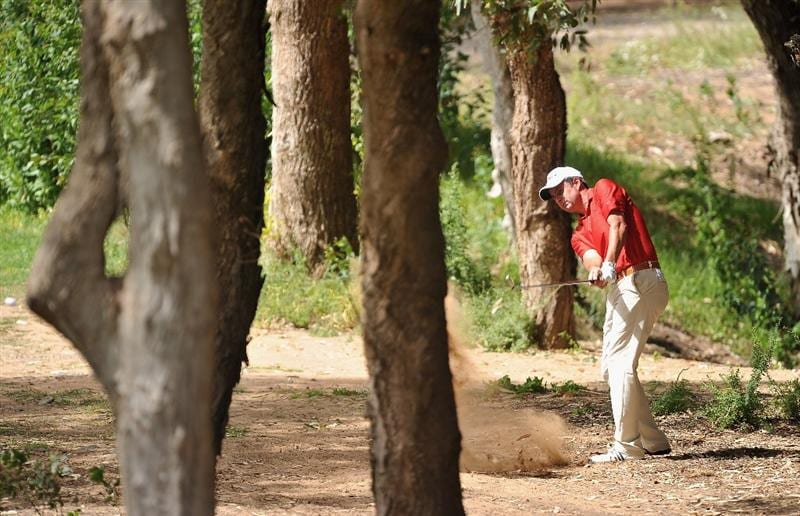 AGADIR, MOROCCO - MARCH 31:  Richard Bland of England plays a shot during the first round of the Trophee du Hassan II Golf at the Golf du Palais Royal on March 31, 2011 in Agadir, Morocco.  (Photo by Stuart Franklin/Getty Images)
