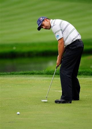 AKRON, OH - AUGUST 08:  Padraig Harrington of Ireland plays a shot on the 3rd hole during the third round of the WGC-Bridgestone Invitational on the South Course at Firestone Country Club on August 8, 2009 in Akron, Ohio.  (Photo by Sam Greenwood/Getty Images)