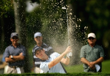 MIAMI - MARCH 20:  Justin Rose of England plays out of the first greenside bunker during the first round of the 2008 World Golf Championships CA Championship at the Doral Golf Resort & Spa, on March 20, 2008 in Miami, Florida.  (Photo by Warren Little/Getty Images)