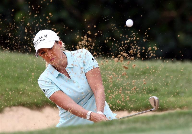 KAPALUA, HI - OCTOBER 17:  Christie Kerr hits out of the green bunker on the third hole during the second round of the Kapalua LPGA Classic on October 17, 2008 at the Bay Course in Kapalua, Maui, Hawaii.  (Photo by Donald Miralle/Getty Images)