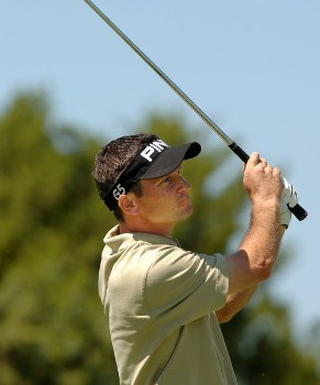 Mark Wilson hits from the sixth tee during the third round of the 2005 Valero Texas Open at La Cantera in at La Cantera Country Club in San Antonio, Texas September 24, 2005.Photo by Steve Grayson/WireImage.com