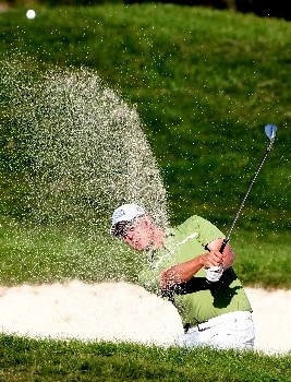 MIYAZAKI, JAPAN - NOVEMBER 17:  Mikko Ilonen of Finland plays a shot out of the bunker on the 13th green during the third round of Dunlop Phoenix Tournament at Phoenix Country Club on November 17, 2007 in Miyazaki, Japan.  (Photo by Koichi Kamoshida/Getty Images)
