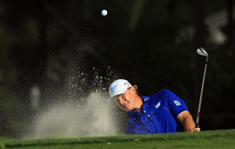 ORLANDO, FL - MARCH 24:  Ernie Els of South Africa plays his third shot at the 15th hole during the first round of the 2011 Arnold Palmer Invitational presented by Mastercard at the Bay Hill Lodge and Country Club on March 24, 2011 in Orlando, Florida.  (Photo by David Cannon/Getty Images)