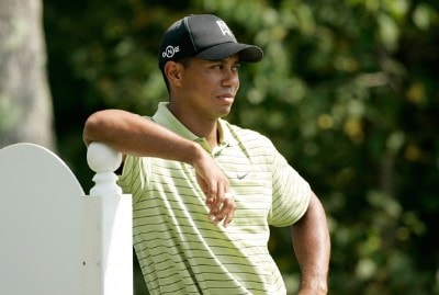 Tiger Woods watches play from the fourth tee box during the first round of the Deutsche Bank Championship at TPC Boston August 31, 2007 in Norton, Massachusetts. PGA Tour - 2007 Deutsche Bank Championship - First RoundPhoto by Stan Badz/PGA TOUR/WireImage.com