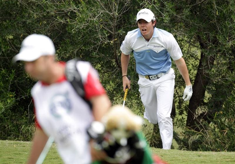 CASARES, SPAIN - MAY 19:  Rory McIlroy of Northern Ireland during the group stages of the Volvo World Match Play Championship at Finca Cortesin on May 19, 2011 in Casares, Spain.  (Photo by Ross Kinnaird/Getty Images)