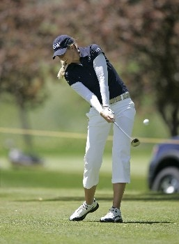LPGA-Corning Classic-1st Round: Jill Mcgill on the  9th hole during the first round of the Corning Classic being held at the Corning Country Club in Corning, New York on May 26, 2005.Photo by Mike Ehrmann/WireImage.com