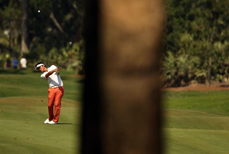 PONTE VEDRA BEACH, FL - MAY 08:  Ryuji Imada of Japan hits a fairway shot on the sixth hole during the third round of THE PLAYERS Championship held at THE PLAYERS Stadium course at TPC Sawgrass on May 8, 2010 in Ponte Vedra Beach, Florida.  (Photo by Scott Halleran/Getty Images)
