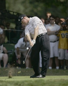 Ted Purdy during the first round of the 2005 PGA Championship at Baltusrol Golf Club in Springfield, New Jersey on August 11, 2005.Photo by Sam Greenwood/WireImage.com