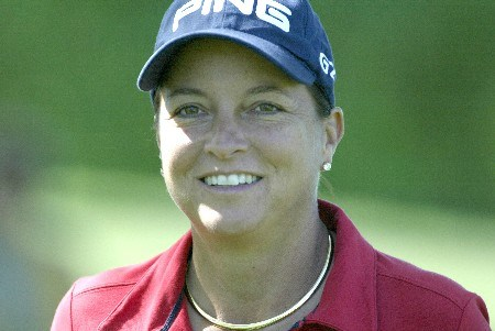Sherri Steinhauer during the first round of the 2005 Sybase Classic at Wykagyl Country Club in New Rochelle, New York on May 19, 2005.Photo by Michael Cohen/WireImage.com