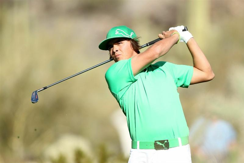 MARANA, AZ - FEBRUARY 23:  Rickie Fowler hits a shot on the 16th hole during the first round of the Accenture Match Play Championship at the Ritz-Carlton Golf Club on February 23, 2011 in Marana, Arizona.  (Photo by Andy Lyons/Getty Images)
