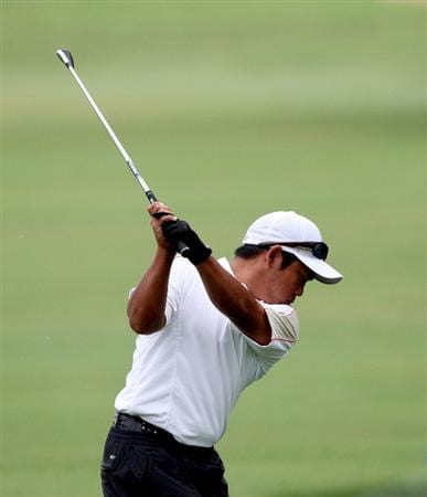 HONOLULU - JANUARY 16:  Tadd Fujikawa hits a shot during the second round of the Sony Open at Waialae Country Club on January 16, 2009 in Honolulu, Hawaii.  (Photo by Sam Greenwood/Getty Images)