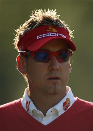 LUSS, SCOTLAND - JULY 09:  Ian Poulter of England looks on during the First Round of The Barclays Scottish Open at Loch Lomond Golf Club on July 09, 2009 in Luss, Scotland.  (Photo by Warren Little/Getty Images)