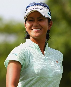 SINGAPORE - FEBRUARY 28:  Ai Miyazato of Japan smiles on the first hole during the first round of the HSBC Women's Champions at Tanah Merah Country Club on February 28, 2008 in Singapore.  (Photo by Andrew Redington/Getty Images)