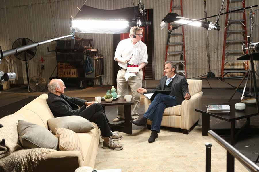 Larry David on the set of Feherty