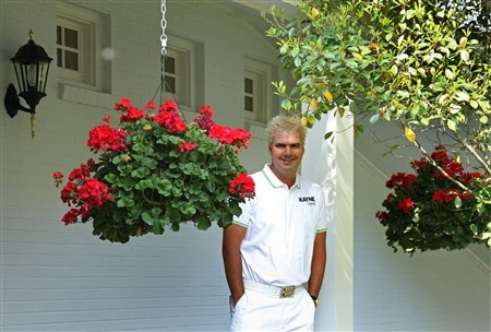 AUGUSTA, GA - APRIL 09:  Daniel Chopra of Sweden waits near the clubhouse during the third day of practice prior to the start of the 2008 Masters Tournament at Augusta National Golf Club on April 9, 2008 in Augusta, Georgia.  (Photo by David Cannon/Getty Images)