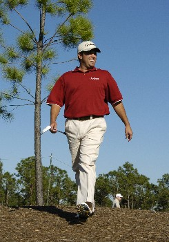 Robert Damron walks to the 13th tee  during  third  round competition at the 2005 Honda Classic March 12, 2005 in Palm Beach Gardens, Florida.