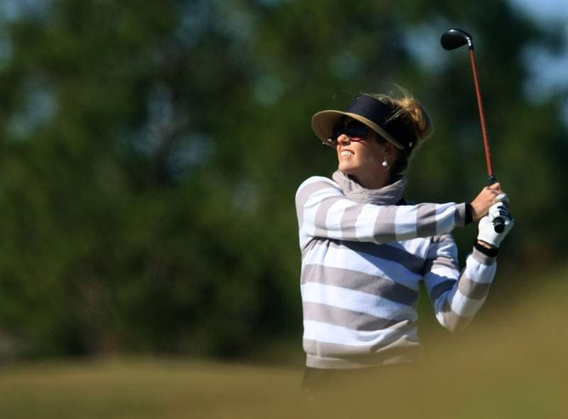 DAYTONA BEACH, FL - DECEMBER 07:  Anna Rawson of Australia watches her second shot on the 13th hole during the final round of the LPGA Qualifying School at LPGA International on December 7, 2008 in Daytona Beach, Florida.  (Photo by Scott Halleran/Getty Images)