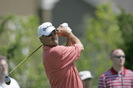 Gary McCord hits a drive during the final round of the Bayer Advantage Classic held at LionsGate Golf Course in Overland Park, KS, June 12, 2005.Photo by G. Newman Lowrance/WireImage.com