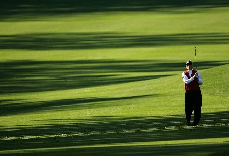 PALM HARBOR, FL - MARCH 8:  Lee Janzen plays a shot on the 10th hole during the third round of the PODS Championship at Innisbrook Resort and Golf Club March 8, 2008 in Palm Harbor, Florida.  (Photo by Sam Greenwood/Getty Images)
