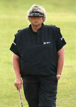 ST ANDREWS, UNITED KINGDOM - AUGUST 02:  Laura Davies of England waits to putt on the 18th green during the First Round of the 2007 Ricoh Women's British Open held on the Old Course at St Andrews on August 2, 2007 in St Andrews, Scotland. (Photo by David Cannon/Getty Images)